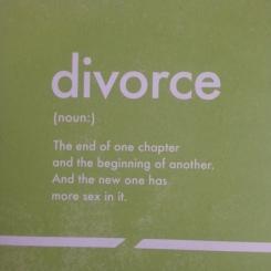divorce card